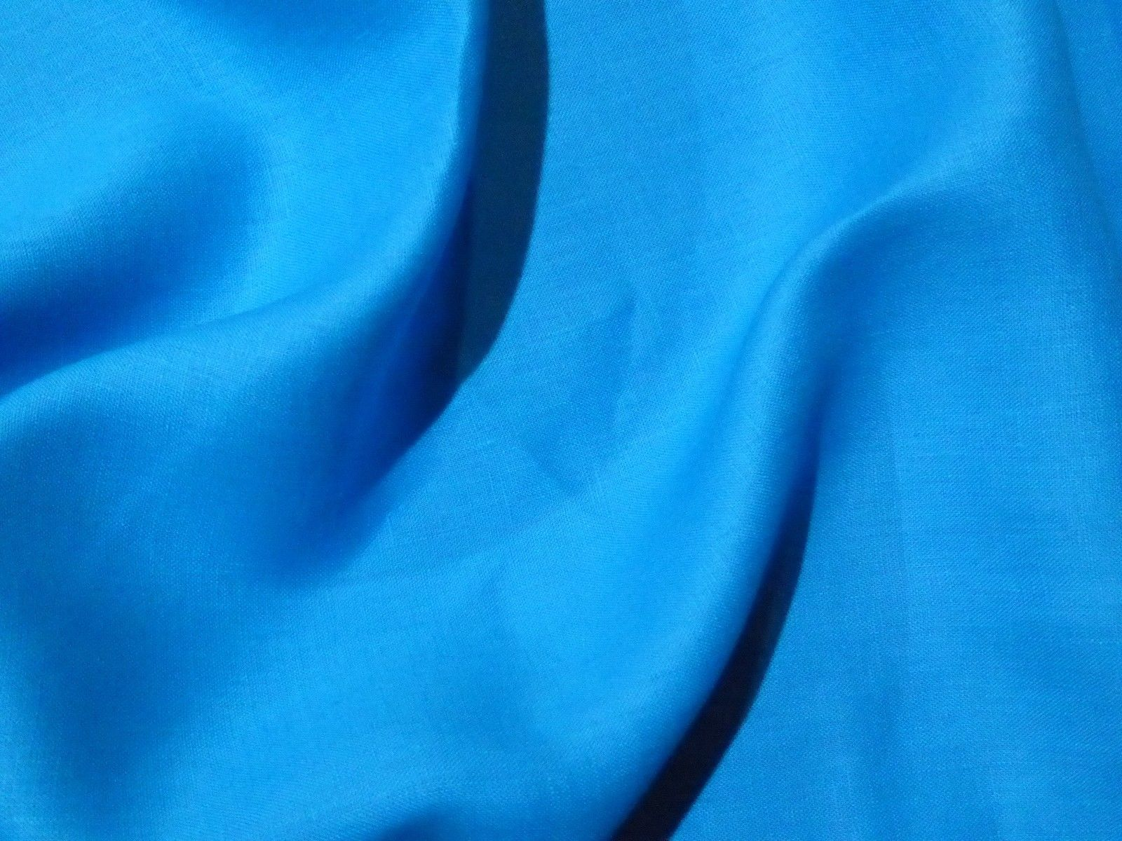 Bright Turquoise Ocean Blue Linen Suiting Solid Perfect Summery Rh Beautifultextiles Com Yellow Color Backgrounds