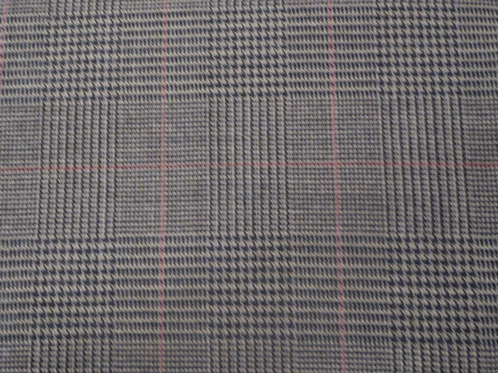 Brown And Tan Glen Plaid With A Thin Red Check Wool