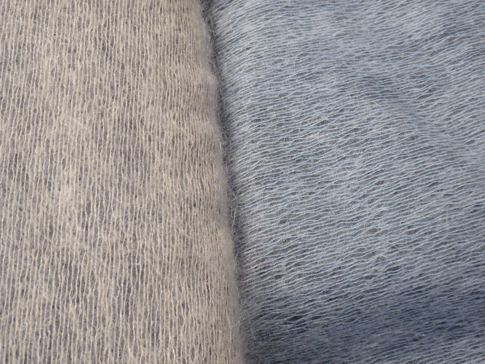 Mohair Fuzzy Fabric!! In 2 Dreamy Colors!! Blue Gray and Gray ...