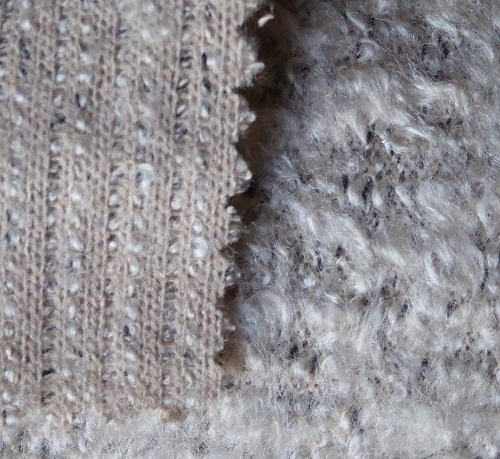 Tips On Blending Great Colors With Beige: Variegated Beige Curly Wool Blend With Light Stretch