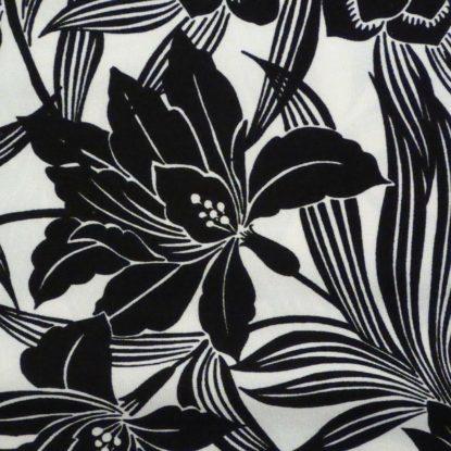 Fresh! Blue Black Seafoam Aqua White ITY Knit Panel Print