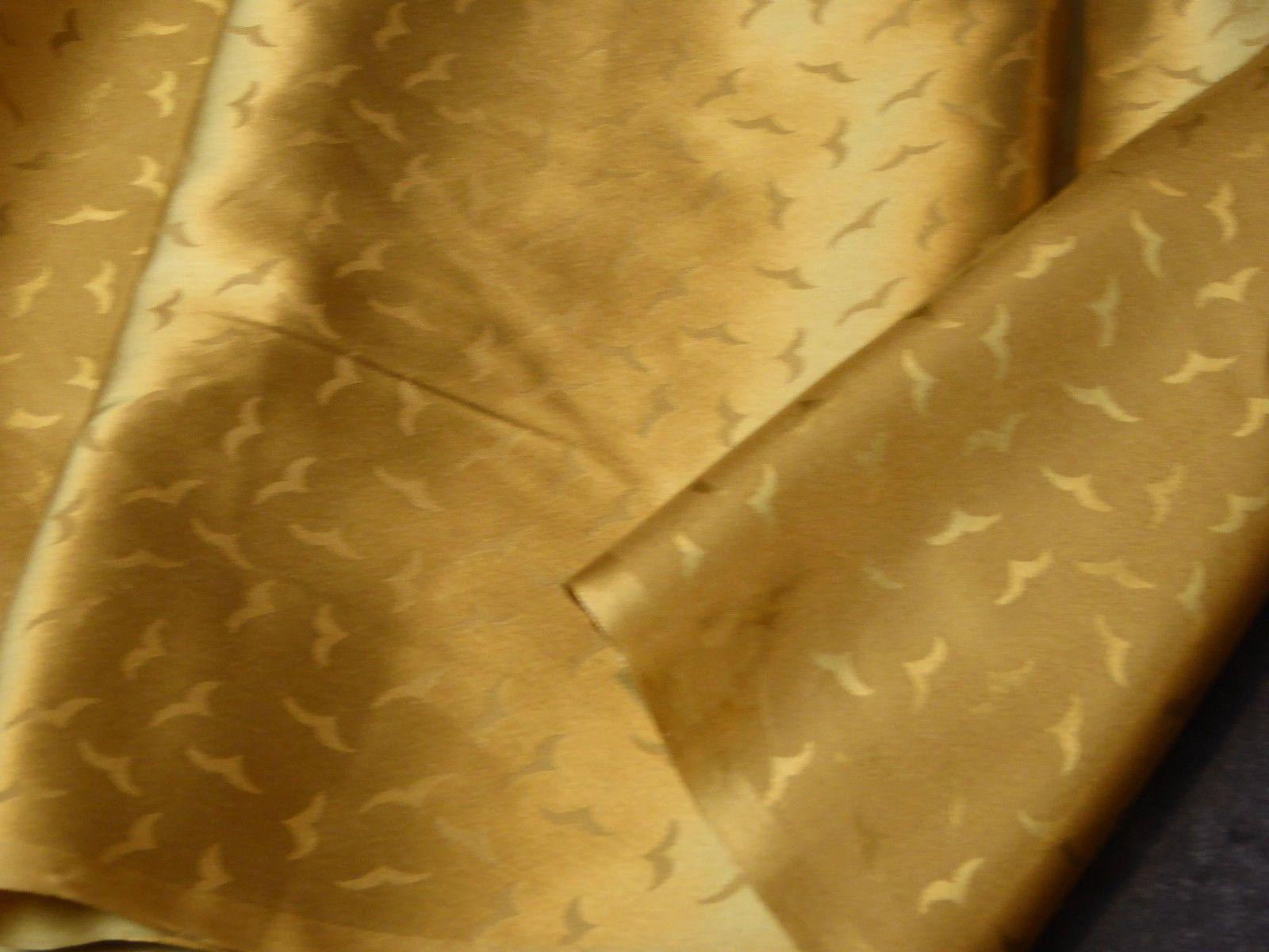 Gold Silk Charmeuse Jacquard