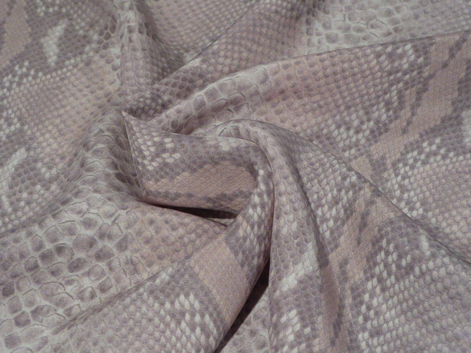 Pastel Snakeskin Silk MATTE Charmeuse Beautiful Elegant Classic!