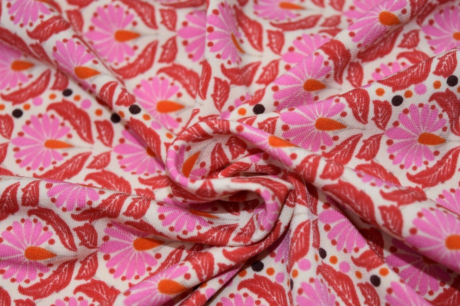 Exotic Pink Flowers Art Nouveau Pattern